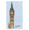hand drawn big ben vector image