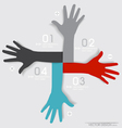 Hands Abstract background for design vector image vector image