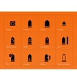 Health care Condom icons on orange background vector image vector image