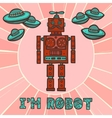 Hipster robot design vector image vector image