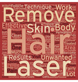 How Does Laser Hair Removal Work text background vector image vector image