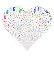 human embryo fireworks heart vector image vector image