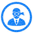 masked thief rounded grainy icon vector image vector image