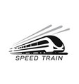 modern high speed train emblem vector image