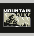 mountain bike silhouette a cyclist on a vector image vector image