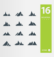 Mountain icons vector image vector image