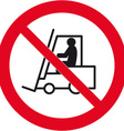 no forklift trucks beyond this point safety sign vector image vector image