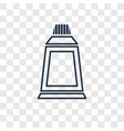 paint tube concept linear icon isolated on vector image