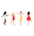partying women in nightclub lady dancing vector image vector image