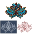 Persian paisley flower with curly elements vector image vector image