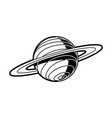 planet saturn with rings - celestial body of solar vector image