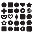 set black and white biscuit cookies vector image