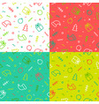 Set christmas seamless patterns