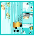 set modern abstract contemporary painting in vector image