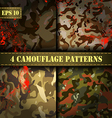 Set of 4 seamless camouflage pattern EPS 10 vector image vector image