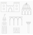 set of african buildings vector image