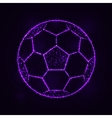 Soccer ball silhouette of lights vector image vector image