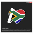 south africa flag design vector image