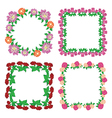 square floral frames - flowers vector image