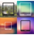 tablet icon on blurred background vector image vector image