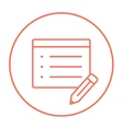 Taking note line icon vector image vector image