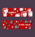 timer concept set banners vector image