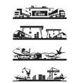 transport cargo terminals vector image vector image
