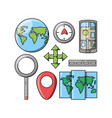 travel and navigation design vector image vector image