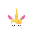 unicorn mask photo booth props icon vector image vector image