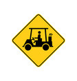 usa traffic road signs golf carts aheadcrossing vector image