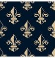 Vintage fleur de lys seamless pattern vector image vector image