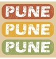 Vintage Pune stamp set vector image vector image