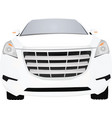 white car front view vector image