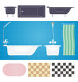 with furniture bathroom vector image