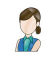woman business character business portrait vector image
