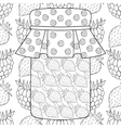 Zentangle stylized jar with strawberry jam on vector image vector image