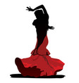 flamenco dance on white background vector image