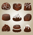 Sweet Collection of Chocolate Truffles vector image