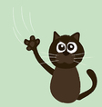 Angry cat cartoon vector image