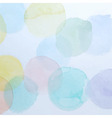 Watercolor Colorful Circles Background vector image