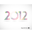2012 and happy new year vector | Price: 1 Credit (USD $1)