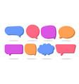 3d speech bubble shapes set