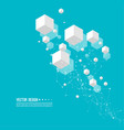 abstract background with transparent cubes vector image vector image