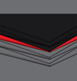 abstract red gray overlap arrow design modern vector image vector image