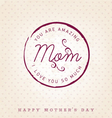 amazing mom design element greeting card vector image vector image