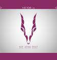 big horn goat logo vector image vector image