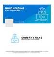 blue business logo template for game boss legend vector image