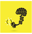 Brain icon and light bulb symbol vector image vector image
