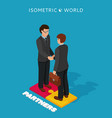 businessmen shake hands isometric vector image vector image