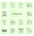 cardboard icons vector image vector image